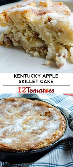 Kentucky Apple Skillet Cake in 2020 Apple Desserts, Köstliche Desserts, Apple Recipes, Delicious Desserts, Cake Recipes, Dessert Recipes, Pizza Recipes, Food Cakes, Cupcake Cakes