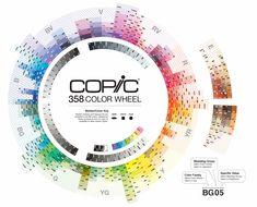 Copic Color Wheel - each strip represents a Natural Blending Group - bjl