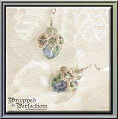 Swarovski Crystal Earrings / Lavender Blue by WrappedToPerfection