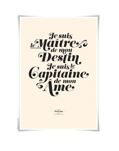 INVICTUS on cream - typography art print - 13 x 19 in French or English - vintage collection. $35.00, via Etsy.