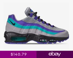 daa8b4c6fa New Nike Mens Air Max 95 OG Shoes (AT2865-001) Wolf GreyBlack-Ind Burst-Jade