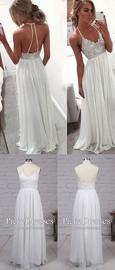 White Prom Dresses,Long Formal Evening Dresses,A-line Military Ball Dresses V-neck,Chiffon Wedding Party Dresses Modest,Lace Graduation Dresses Simple Year 10 Formal Dresses, Unique Homecoming Dresses, Pageant Dresses For Teens, Affordable Prom Dresses, Simple Prom Dress, Elegant Prom Dresses, Prom Dresses 2018, Prom Dresses Online, Cheap Prom Dresses