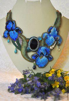 """Колье, бусы ручной работы. Ярмарка Мастеров - ручная работа. Купить Колье """"Iris dream"""". Handmade. Авторское украшение, лиловый"""