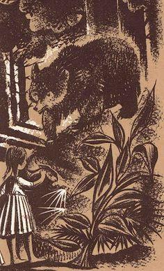 The Secret River Marjorie Kinnan Rawlings ~ Leonard Weisgard Charles Scribner's Son, 1955