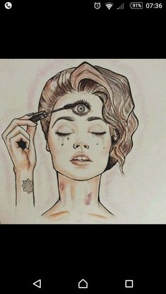 ImageFind images and videos about make up, third eye and dmt on We Heart It - the app to get lost in what you love. Chakras, Pineal Gland, Psy Art, Visionary Art, Psychedelic Art, Spiritual Awakening, Sacred Geometry, Tattoos For Guys, Drugs