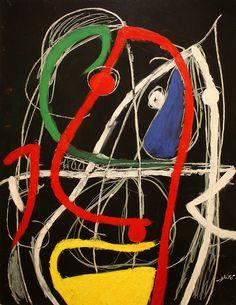 Joan Miro. Woman, birds, via Flickr.