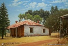 LOOKING BACK - From 2001 a little oil painting of a cottage in the country east of Perth in Western Australia ... See my paintings for sale at www.bit.ly/shop-mh ... #painting #oilpainting #landscapepainting #landscape #artist #landscapeart #oiloncanvas #australianlandscape #australianlandscapepainting #australianlandscapes #in #instagramart #contemporarypainting #worldofartists #galleries #instaartist #artstudio #australianart #australianartist