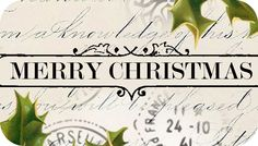 Merry Christmas clip art, tag or small label