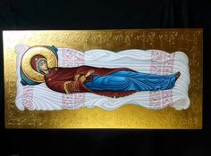 Dormition of our most holy Queen, the Theotokos and Ever-Virgin Mary. Madonna, Blessed Mother Mary, Byzantine Icons, Faith Hope Love, Orthodox Icons, Sacred Art, Holy Spirit, Christianity, August 28