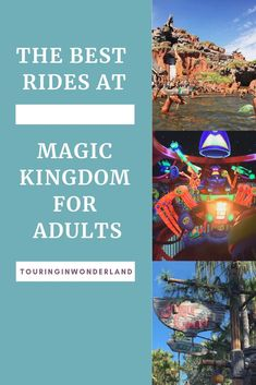 Top 10 Best Rides at Magic Kingdom for Adults. These Disney World attractions are the most thrilling and tell the best stories and are sure to please everyone not just kids. Touring in Wonderland Disney On A Budget, Disney Vacation Planning, Disney World Planning, Disney World Vacation, Disney Vacations, Disney Travel, Best Disney Rides, Walt Disney World Rides, Disney World Attractions
