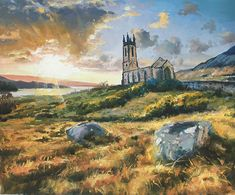 Dunlewy Church Painting by Conor McGuire