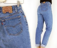Vintage Levis 17501 Women's Button Fly High Waist Jeans - Size 9