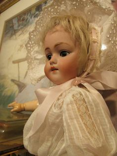 Kestner Doll MOLD168 20in Tall Perfect Bisque Sleep Eyes Original Wig | eBay
