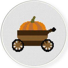 Charts Club Members Only: Pumpkin Cart Cross Stitch Pattern
