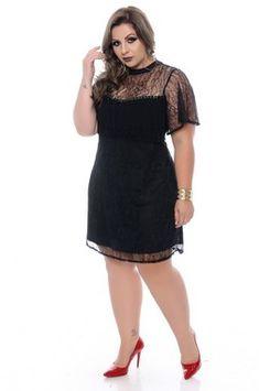 Vestido Plus Size Sairé Abaya Fashion, Women's Fashion Dresses, All Black Fashion, Curvy Girl Outfits, Looks Plus Size, Girl With Curves, Voluptuous Women, African Attire, Classy Dress