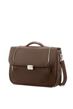 "X'Blade 2.0 Business Dark Brown Briefcase 1 Gusset 16"" #Samsonite #XBlade20 #Travel #Suitcase #Luggage #Strong #Lightweight #MySamsonite #ByYourSide"
