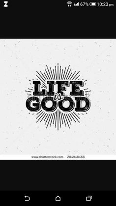Life Is Good Typography. T Shirt Print With Starburst   Buy This Stock  Vector On Shutterstock U0026 Find Other Images.