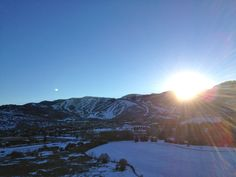 View from PC Hill, looking at Park City Mountain Resort