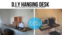 I had this idea the other day ... hanging-desk ... with a mural/picture on the underside which is art when desk is put up and away.  Think mini scale shelves as well with artwork.