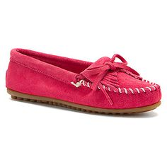 Minnetonka Kilty Suede Moc found at #OnlineShoes