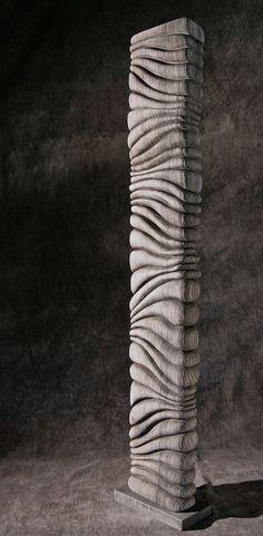 Thierry Martenon ~ Wood Sculpture 2011 (Frêne, Ash Wood) More Abstract Sculpture, Wood Sculpture, Thierry Martenon, Got Wood, Concrete Art, Wooden Art, Land Art, Wood Turning, Wood Wall