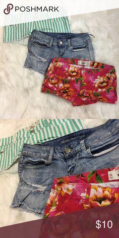 Shorts bundle Size 5 & 4. Ae & hollister Shorts Jean Shorts