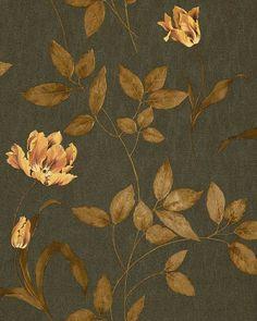 3D Blumentapete Floral Tapete EDEM 769-35 Hochwertige geprägte Blumen Luxus Textil Optik Braun goldgelb kupfer-braun: Amazon.de: Baumarkt