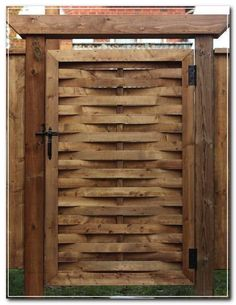 Add a Woven Gate to your Yard Home Improvement: A gate is a bit like a necktie – it gives you the opportunity to add some pizzazz to an otherwise simple look. This is a unique gate that will draw some attention, even though it's pretty easy to build.