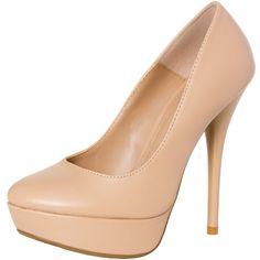 CASPAR Damen High Heels / Pumps mit Plateau Absatz in klassisch elegantem Design - viele Farben - SBU001 - FALLEN 1 BIS 1,5 NUMMERN KLEINER AUS !!!: Amazon.de: Schuhe & Handtaschen