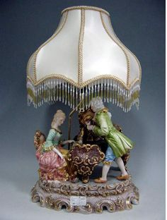 Capodimonte Lamps Made In Italy Victorian