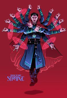 davidmbuisan: How cool is Doctor Strange in Infinity War? Marvel Doctor Strange, Doc Strange, Strange Art, Marvel Dc Comics, Marvel Fanart, Bd Comics, Marvel Memes, The Avengers, Marvel Drawings