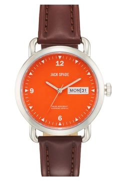 Men's Watch with an Orange Face