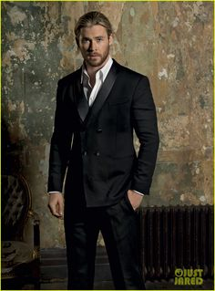 Chris Hemsworth. SubCategory A: Suit porn. SubCategory B: Sweet Baby Jeebus... I Need a Cigarette.