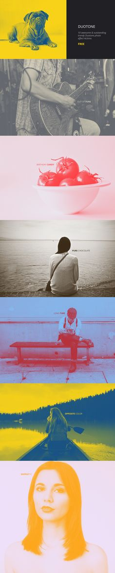 Duotone Photoshop Actions (Freebie) on Behance