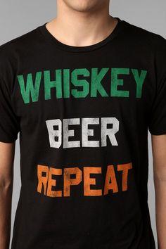 Whiskey Beer Repeat Tee #urbanoutfitters