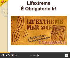 Olha o meu Novo Slide! Lifextreme é obrigatorio Ir! Está quase a chegar o dia do grande evento dos Lazy Millionaires, O Lifextreme. Ver o Slide: http://pt.slideshare.net/fernandojorgeparracho/lifextreme-obrigatorio-ir