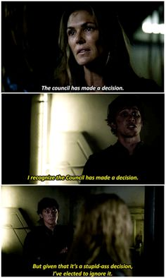 Bellamy Blake channeling his inner Nick Fury.    The 100 season 2 episode 5 - Human Trials    Bellamy Blake, Abby Griffin and Clarke Griffin    Tumblr - jinglebellamyrock    Bob Morley, Paige Turco and Eliza Jane Taylor    The 100 & The Avengers