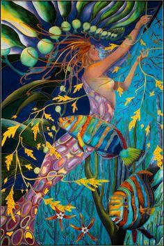 Mermaid with Harlequin Tuskfish