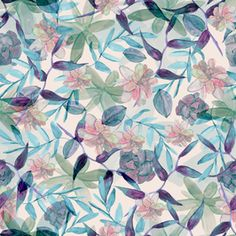 Succulents by Daniela Duarte - Seamless repeat of watercolor floral. All elements on separated layers. Bonus individual fils of watercolor elements. Color Patterns, Print Patterns, Floral Design, Succulents, Royalty, Bloom, Prints, Watercolors, Flowers