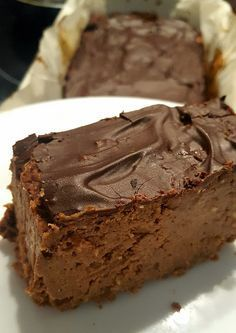 Ciasto z cieciorki   Dieta roślinna, zarządzanie sobą Healthy Sweets, Healthy Dessert Recipes, Desserts, Can I Eat, Cream Cheese Recipes, Dessert Buffet, Chocolate Cherry, Cheesecake Bars, Food Processor Recipes