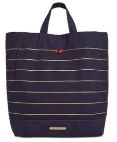 TOMMY HILFIGER Tommy Hilfiger Jean Metallic Stripe Canvas Tote. #tommyhilfiger #bags #canvas #tote #denim #metallic #hand bags #cotton #