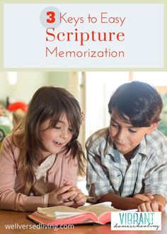 Do you know these three keys to scripture memorization? These essential tips make learning Bible verses not only easy, but do-able, for parents to hide God's words in their children's hearts. Vibrant Homeschooling