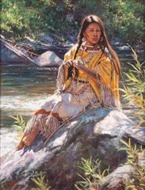 Artwork by Don Oelze, Daughter of the Cheyenne, Made of oil on canvas kp