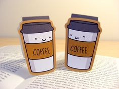Café favoritos marcadores magnéticos lindo por MagicallyCraftedShop