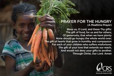 Today is World Food Day! Visit crs.org to see how you can join in solidarity against hunger, especially among the poorest people.