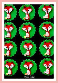 Cute fox cupcake toppers