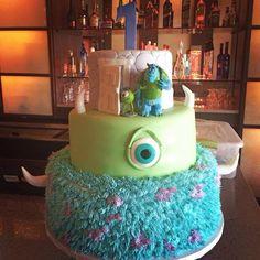 Monsters theme birthday cake