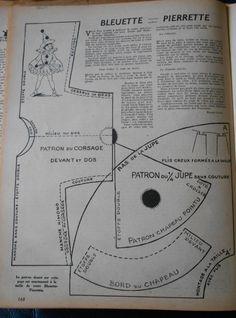 PAR AMOUR DES POUPEES :: 1954-02-4 Bleuette se déguise en Pierrette