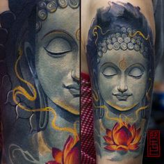 Finally done this piece. Thanx to my lovely lady for patience^^ XX XIV by the way.have a nice buddha Buda Tattoo, Buddha Tattoo Design, Face Tattoos, Body Art Tattoos, Sleeve Tattoos, Asian Tattoos, Tatoos, Japanese Tatoo, Buddha Face