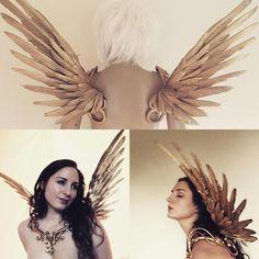 Ikarus-Flügel  gold geflügelten Colllar Kostüm Cosplay